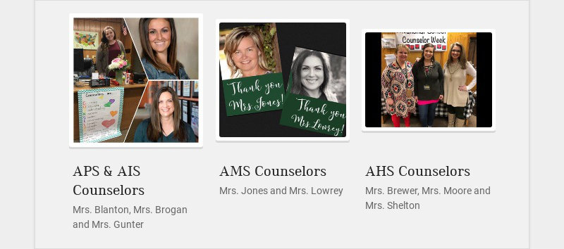 APS & AIS Counselors