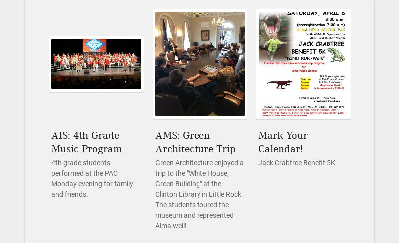 AIS: 4th Grade Music Program 4th grade students performed at the PAC Monday evening for family...