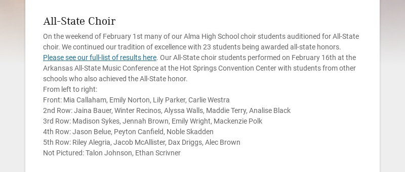 All-State Choir