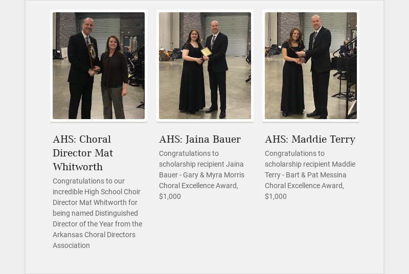 AHS: Choral Director Mat Whitworth