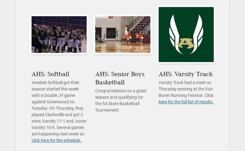 AHS: Softball