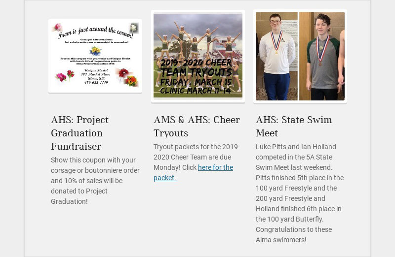 AHS: Project Graduation Fundraiser