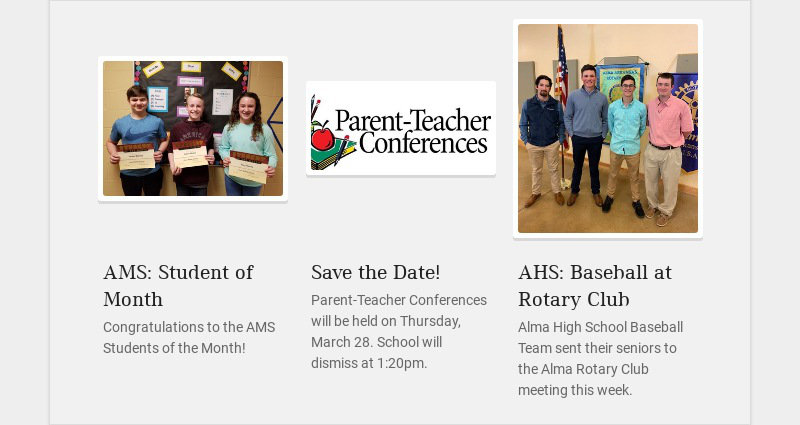 AMS: Student of Month