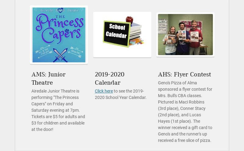 AMS: Junior Theatre Airedale Junior Theatre is performing