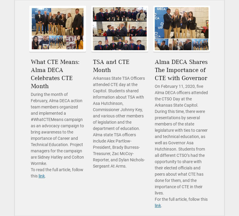 What CTE Means: Alma DECA Celebrates CTE Month