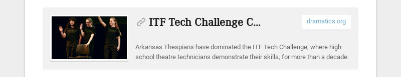 ITF Tech Challenge Champs - Dramatics Magazine
