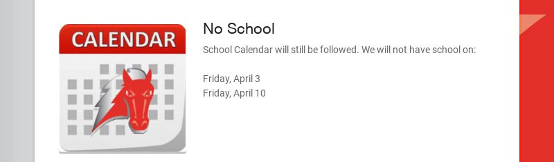 No School