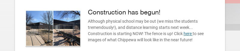 Construction has begun!