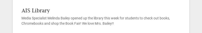 AIS Library