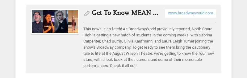 Get To Know MEAN GIRLS' Newest Cast Members!