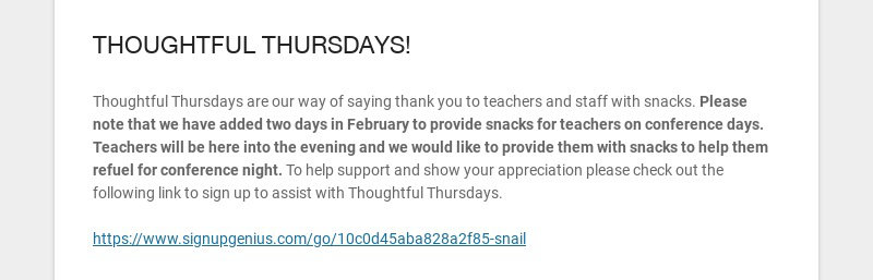 THOUGHTFUL THURSDAYS!