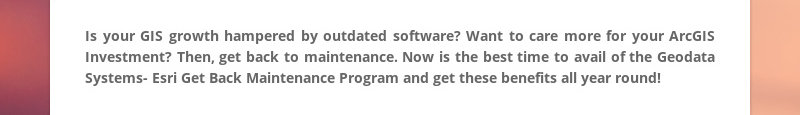Is your GIS growth hampered by outdated software? Want to care more for your ArcGIS Investment?...