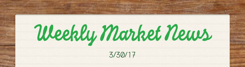 Weekly Market News 3/30/17
