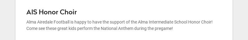 AIS Honor Choir