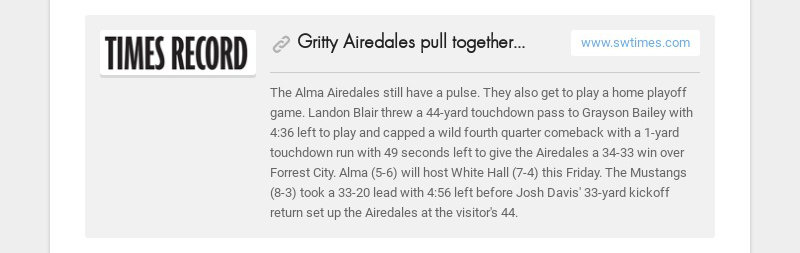 Gritty Airedales pull together, stun Forrest City
