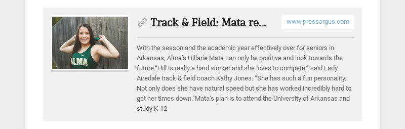 Track & Field: Mata retains positive outlook www.pressargus.com With the season and the academic...