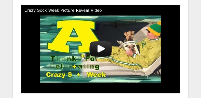 Crazy Sock Week Picture Reveal Video