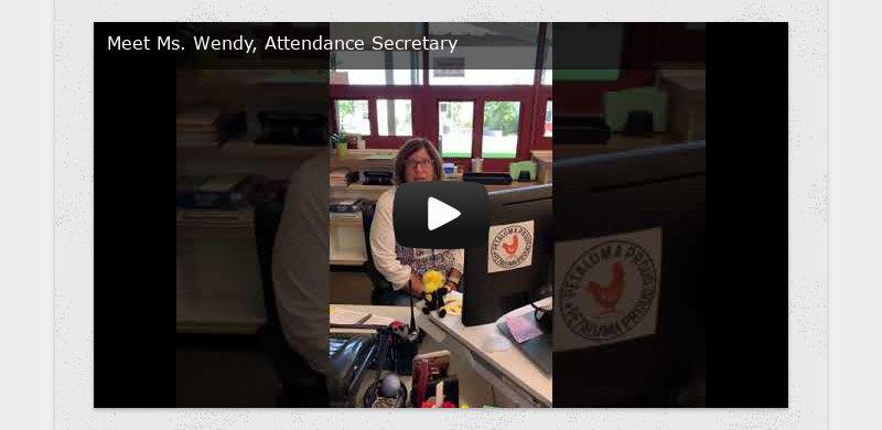 Meet Ms. Wendy, Attendance Secretary