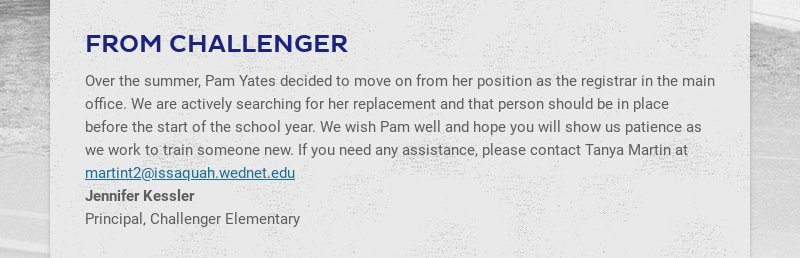 FROM CHALLENGER