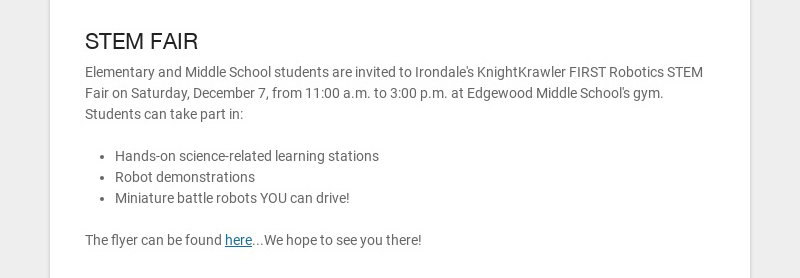 STEM FAIR