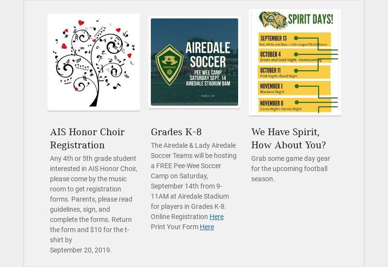 AIS Honor Choir Registration
