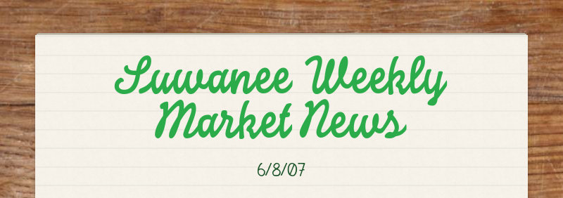Suwanee Weekly Market News 6/8/07