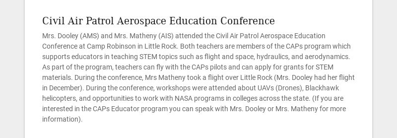 Civil Air Patrol Aerospace Education Conference