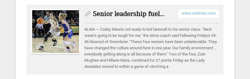 Senior leadership fuels Lady Airedales, 69-46
