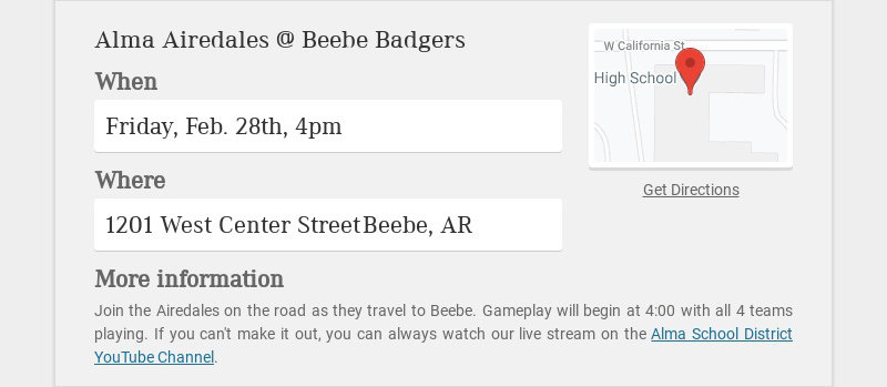 Alma Airedales @ Beebe Badgers