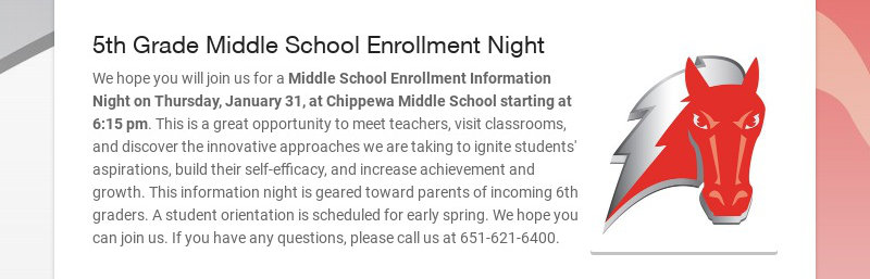 5th Grade Middle School Enrollment Night
