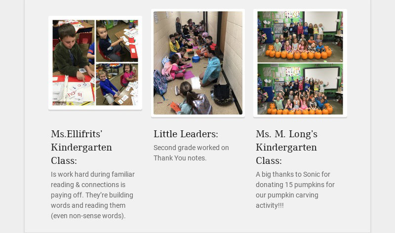 Ms.Ellifrits' Kindergarten Class: