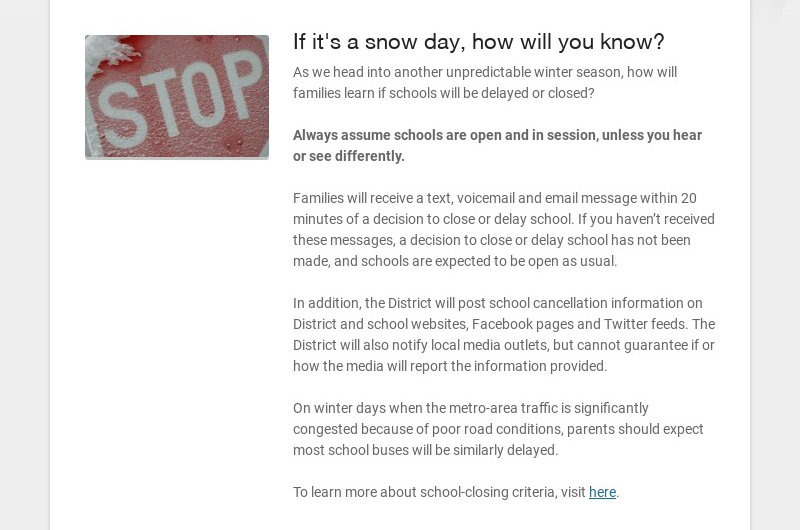 If it's a snow day, how will you know? As we head into another unpredictable winter season, how...