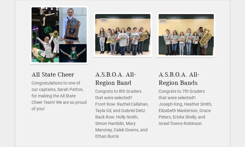 All State Cheer Congratulations to one of our captains, Sarah Patton, for making the All State...