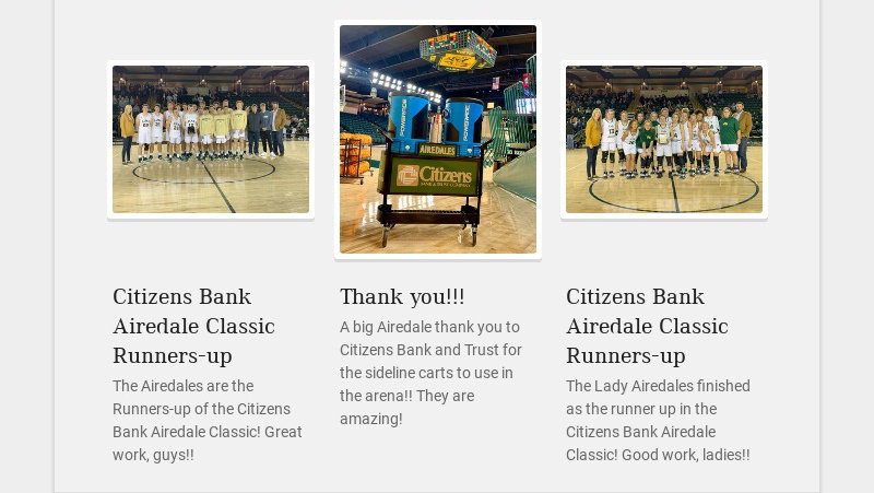 Citizens Bank Airedale Classic Runners-up The Airedales are the Runners-up of the Citizens Bank...