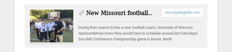 New Missouri football coach has Joplin ties www.joplinglobe.com During their search to hire a new...