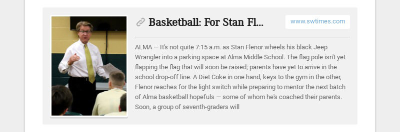 Basketball: For Stan Flenor, the future begins with fresh-faced seventh-graders www.swtimes.com...