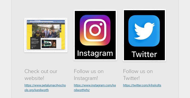 Check out our website! https://www.petalumacityschools.org/kenilworth Follow us on Instagram!...