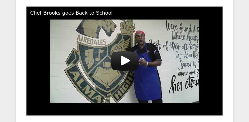 Chef Brooks goes Back to School