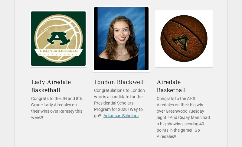 Lady Airedale Basketball Congrats to the JH and 8th Grade Lady Airedales on their wins over...