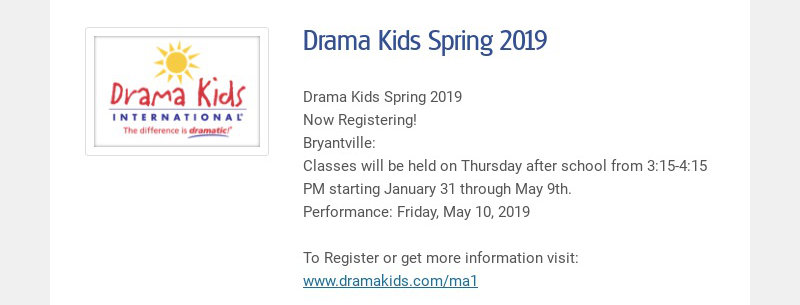 Drama Kids Spring 2019