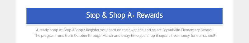 Stop & Shop A+ Rewards