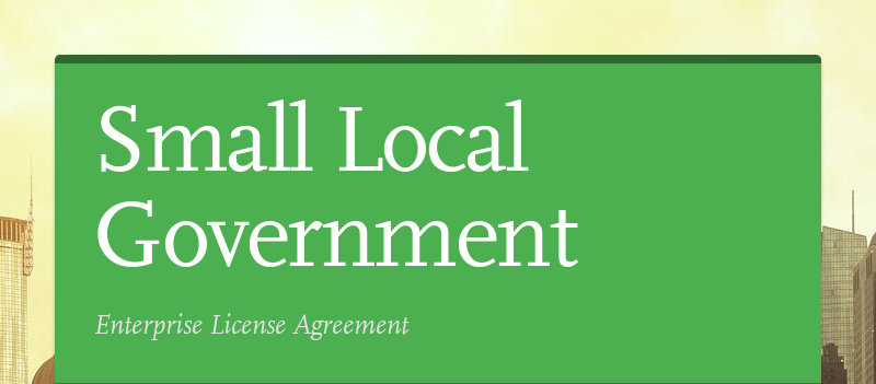 Small Local Government Enterprise License Agreement