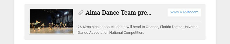 Alma Dance Team prepares for national competition www.4029tv.com 26 Alma high school students...