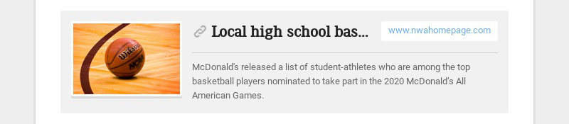 Local high school basketball stars nominated to play in 2020 McDonald's All American games...
