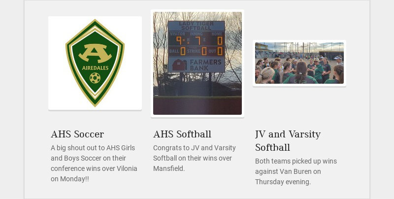 AHS Soccer A big shout out to AHS Girls and Boys Soccer on their conference wins over Vilonia on...