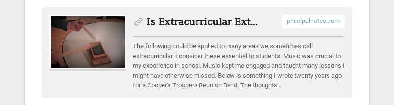 Is Extracurricular Extra, or Essential?