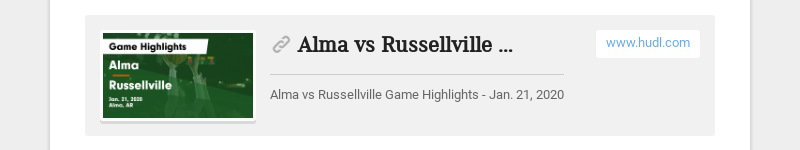 Alma vs Russellville Game Highlights - Jan. 21, 2020