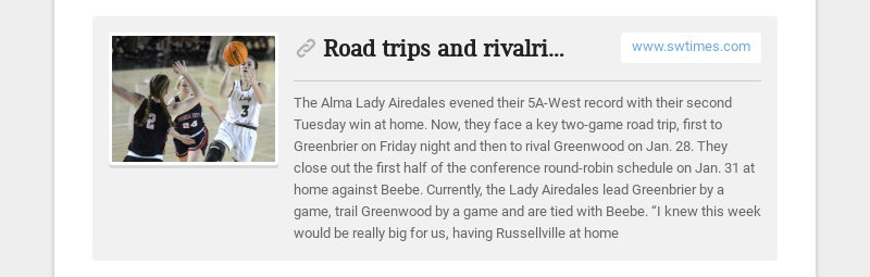 Road trips and rivalries for 5A-West teams