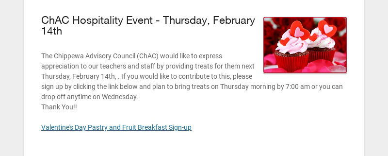 ChAC Hospitality Event - Thursday, February 14th