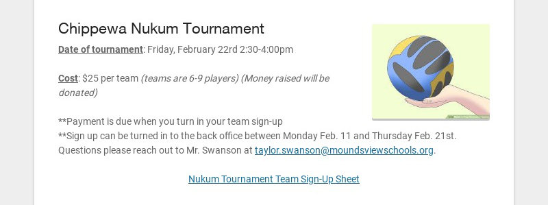 Chippewa Nukum Tournament